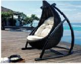 Garden Furniture - Poly Rattan / Aluminum Frame Hanging Chairs