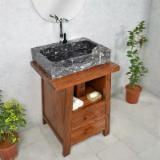 浴室家具 - CHSTONE---China fossil marble bathroom washing basins