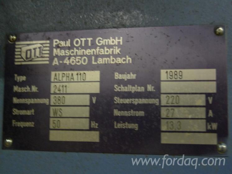 Used Paul OTT Maschinenfabrik OTT Alpha 110 1989 Belt Sander For ...