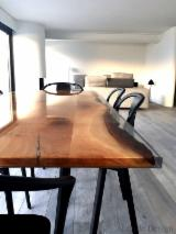 Composite Wood Living Room Furniture - Epoxy Resin & Wood Table