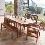 Trouvez tous les produits bois sur Fordaq - Vend Ensemble De Jardin Traditionnel Feuillus Européens Acacia Quy Nhon