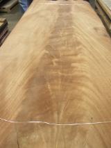 Sliced Veneer - Mahogany Flat Cut, Figured Natural Veneer