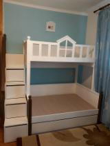 Kids Bedroom Furniture - Contemporary MDF panel Beds Romania