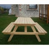 Garden Furniture - Kit - Diy Assembly Larch (Larix Spp.) Garden Tables Turkey
