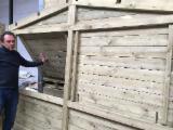 Holzhäuser - Vorgeschnittene Fachwerkbalken - Dachstuhl Gesuche - Holzhäuser