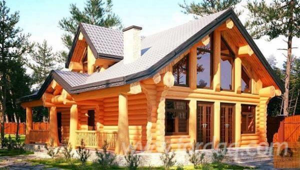 Case Di Tronchi Romania : Casa di tronchi canadese abete resinosi europei