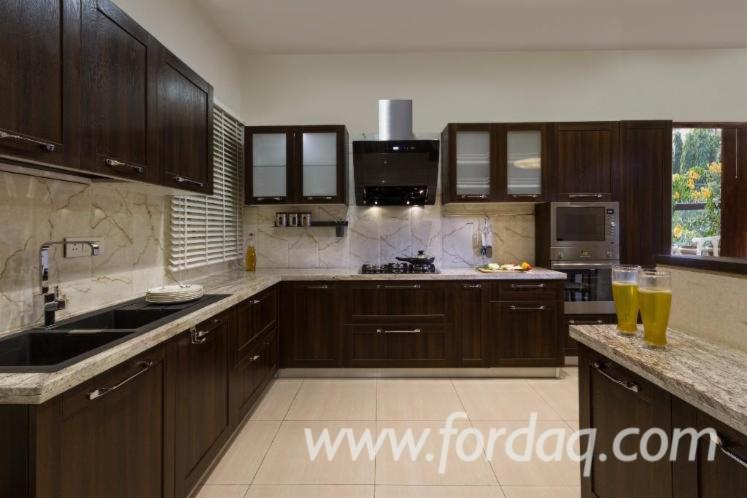 Venta Gabinetes De Cocina Diseño Madera Dura Europea Acacia Vietnam