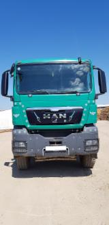 Oprema Za Šumu I Žetvu - Kamion Za Prevoz Kraćih Stabala MAN TGS 33.440 Polovna 2009 Rumunija