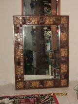 Entrance Hall Furniture - Teak Mirror With Coins Frame