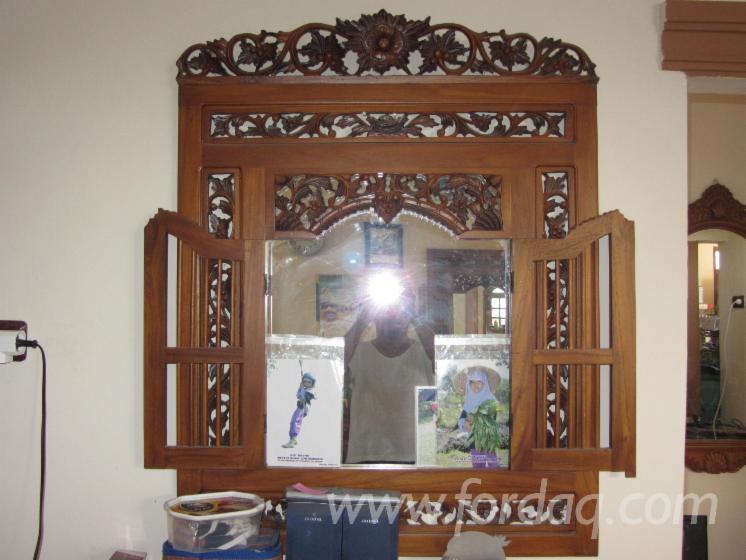 Antique Traditional Teak Mirror