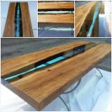 Office Furniture - Epoxy and Wood Tables
