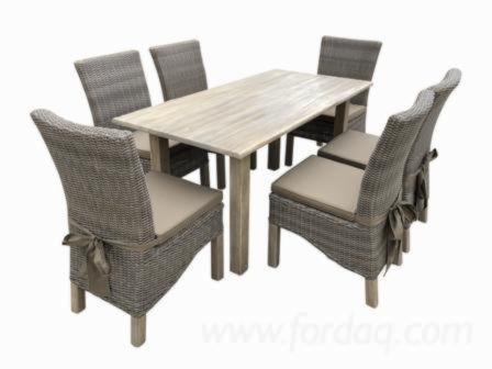 Venta Conjuntos De Comedor Diseño Madera Dura Europea Acacia Vietnam