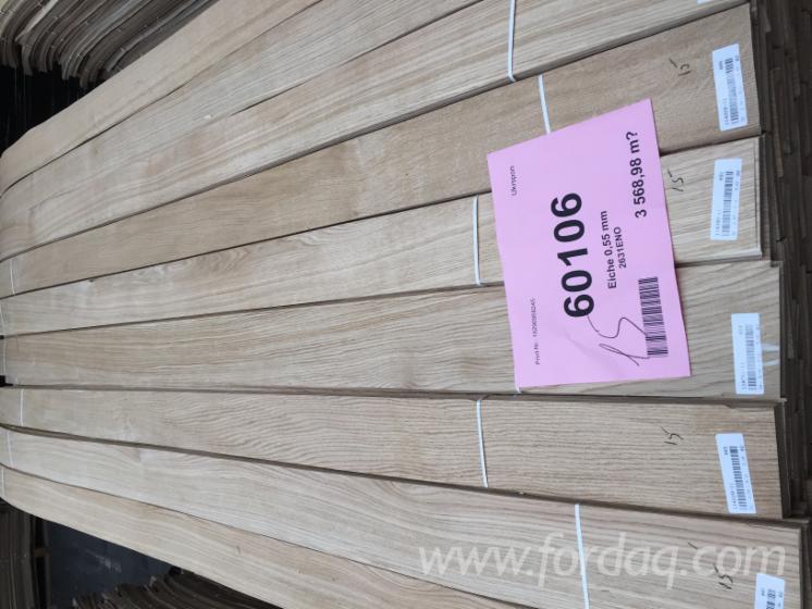 天然木皮单板, 橡木, 平切,平坦