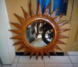Entrance Hall Furniture - CE Teak Mirror, Sun Shaped