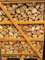 薪材、木质颗粒及木废料 - 劈切薪材 – 未劈切 碳材/开裂原木 灰色阿尔德木, 桦木, 白杨木