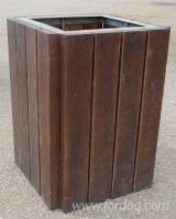 Latvia Supplies - Pine wheelie bin