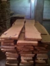 Hardwood  Unedged Timber - Flitches - Boules For Sale - Fresh Sawn Unedged Oak Timber, 53 mm