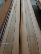 天然木皮单板, 花揪果木, 平切,平坦
