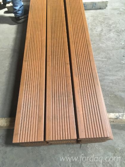 Vend Lame De Terrasse 1 Face Rainurée Bambou Thermo Traité