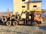 Oprema Za Šumu I Žetvu Kamion Za Prevoz Dužih Stabala - Kamion Za Prevoz Dužih Stabala Man Polovna 1990 Rumunija
