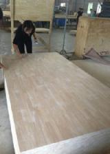 单板及镶板 亚洲 - 单层实木面板, 橡胶木