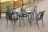 5 Pcs Luxury Outdoor Patio Cast Aluminium Garden Furniture