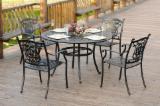 Garden Furniture For Sale - 5 Pcs Luxury Outdoor Patio Cast Aluminium Garden Furniture