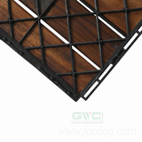Acacia Six Slats Deck Tiles from Vietnam