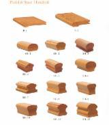 批发木材墙面包覆 - 护墙板,木墙板及型材 - 实木, 橡胶木, 家具木框线