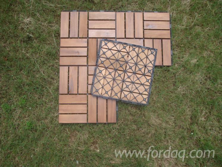 Piastrelle giardino finest ceppo piastrelle legno tropicale