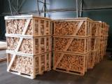供应 俄国 - 劈切薪材 – 未劈切 碳材/开裂原木 桦木, 白杨
