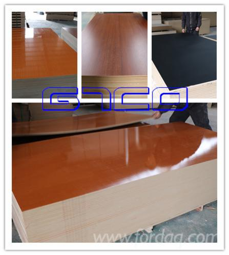 18mm High Glossy White Melamine Laminated Mdf Particle Board