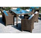 Dining Room Furniture - Nice Design Poly Rattan Dinning Set Furniture