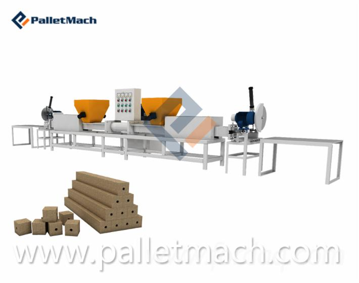 Euro Pallet Block Making Line Machine
