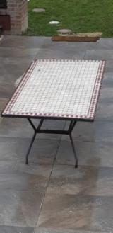 Garden Tables Garden Furniture - Iron Garden Tables with Mosaic Top