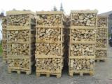 供应 波兰 - 劈切薪材 – 未劈切 碳材/开裂原木 桦木, 橡木, 常见黑色阿尔德木