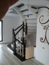 Stairs Finished Products - Beech, White Ash, Oak Stairs Romania