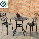 Garden Furniture - 2 Seat Cast Aluminium Outdoor Garden Bistro Furniture Set