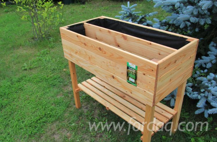 Wholesale FSC Larch Flower Pot - Planter from Poland