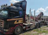 Oprema Za Šumu I Žetvu Kamion Za Prevoz Dužih Stabala - Kamion Za Prevoz Dužih Stabala Scania Polovna 2000 Rumunija