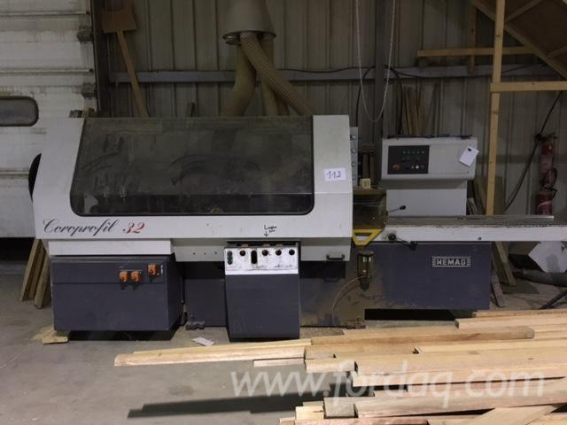 Used-HEMAG-Coroprofil-320-Moulding-Machines-For-Three--And-Four-side-Machining-For-Sale