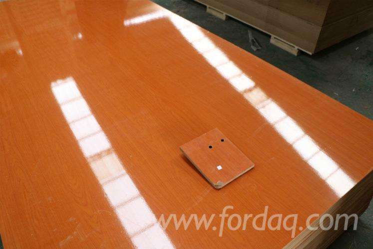 High Glossy Wood Grain Melamine Mdf For Cabinets