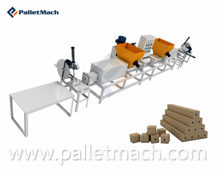high quality compressed wood pallet block making machine