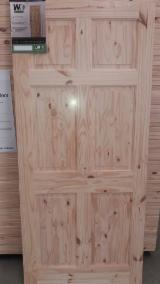 Wood Components, Mouldings, Doors & Windows, Houses South America - KNOTTY PINE PANEL DOOR