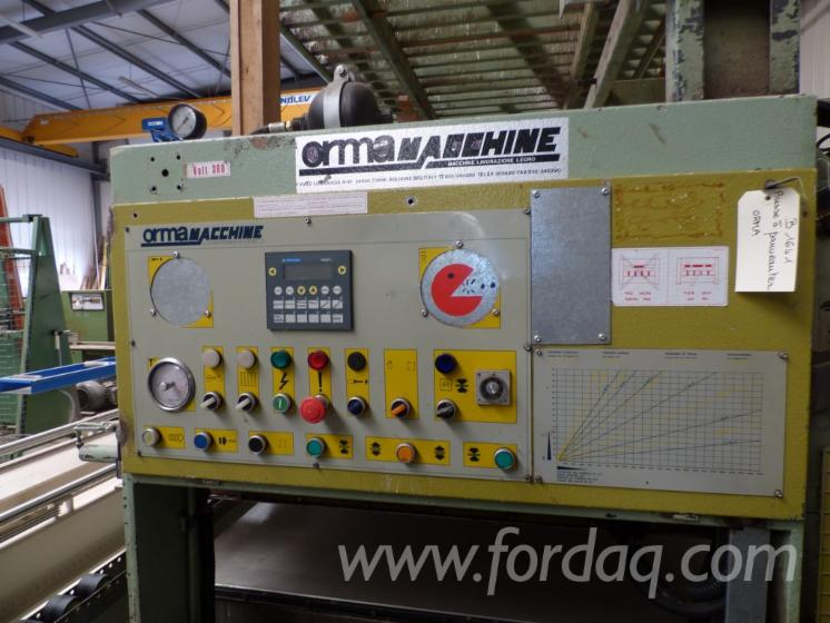 Used-ORMA-LS25-13-Automatically-Fed-Press-For-Veneering-Flat-Surfaces-For-Sale