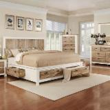 Bedroom Furniture - Solid Acacia - Bedroom Furniture With Scratched Appearance