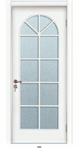 null - Simple design oak wood office door with glass