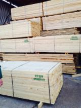 Softwood  Unedged Timber - Flitches - Boules - Offer for A/B/C Edged Pine Lumber