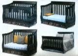 Mobilier Camera Copii - Pătuț convertibil, lemn brad - 1 450 lei