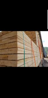 Softwood  Sawn Timber - Lumber For Sale - Fresh Sawn Spruce Beams, 50+ mm